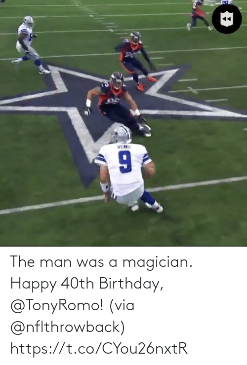 Birthday: The man was a magician. Happy 40th Birthday, @TonyRomo!  (via @nflthrowback) https://t.co/CYou26nxtR