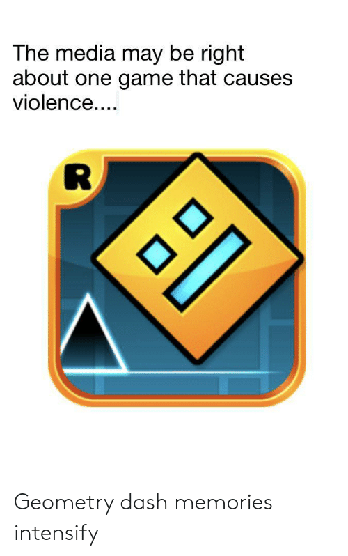 Intensify: The media may be right  about one game that causes  violence.... Geometry dash memories intensify