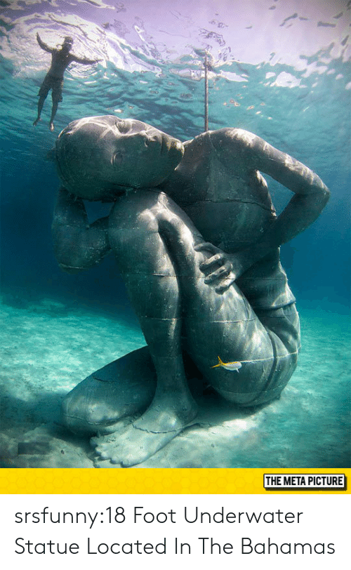 the bahamas: THE META PICTURE srsfunny:18 Foot Underwater Statue Located In The Bahamas