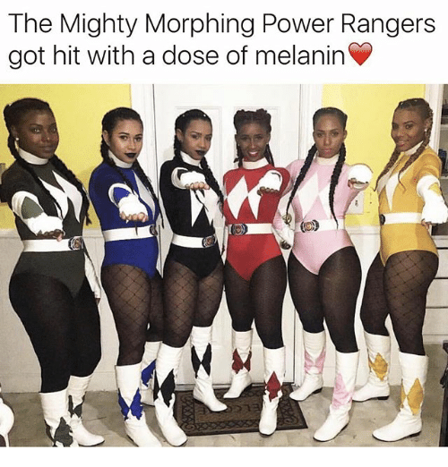 Memes, Power Rangers, and Power: The Mighty Morphing Power Rangers  got hit with a dose of melanin