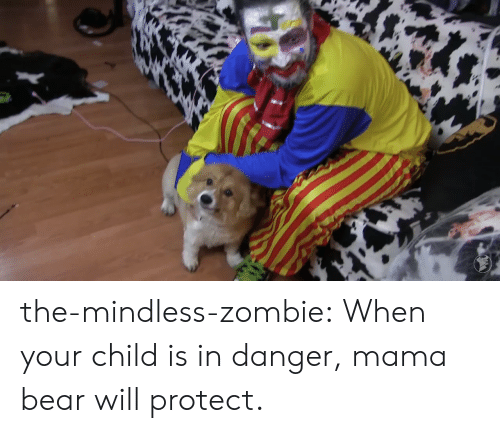 mama bear: the-mindless-zombie:  When your child is in danger, mama bear will protect.