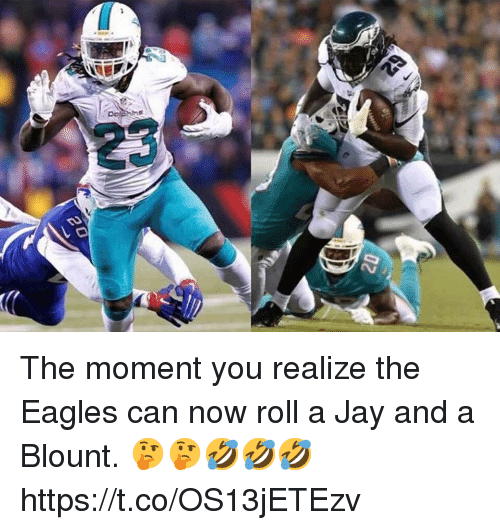 Blount: The moment you realize the Eagles can now roll a Jay and a Blount. 🤔🤔🤣🤣🤣 https://t.co/OS13jETEzv