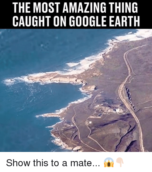 Google Earth: THE MOST AMAZING THING  CAUGHT ON GOOGLE EARTH Show this to a mate... 😱👇🏻