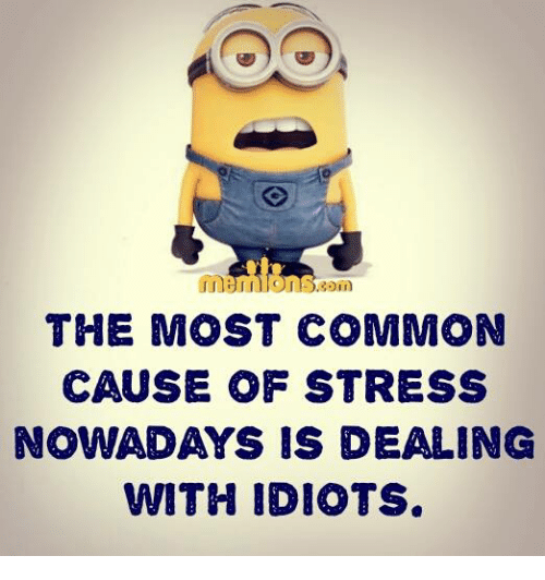 Dealing With Idiots: THE MOST COMMON  CAUSE OF STRESS  NOWADAYS IS DEALING  WITH IDIOTS