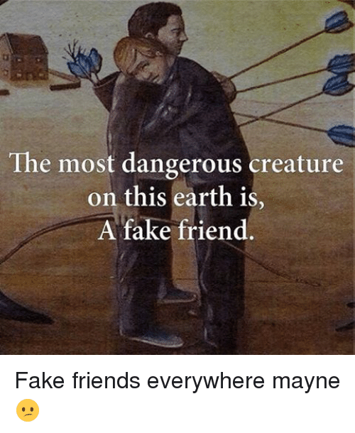 The Most Dangerous Creature On This Earth Is A Fake Friend