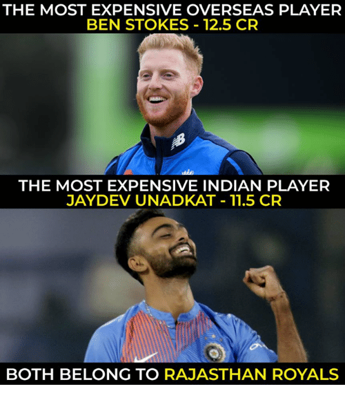 the most expensive overseas player ben stokes 125 cr the most