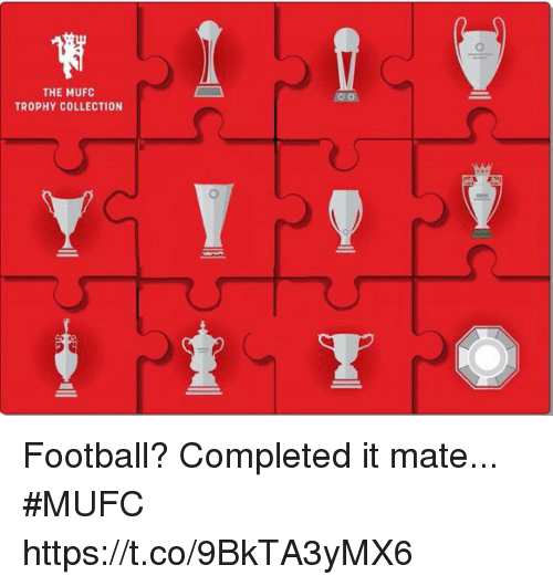 Football, Soccer, and Mufc: THE MUFC  TROPHY COLLECTION Football? Completed it mate... #MUFC https://t.co/9BkTA3yMX6