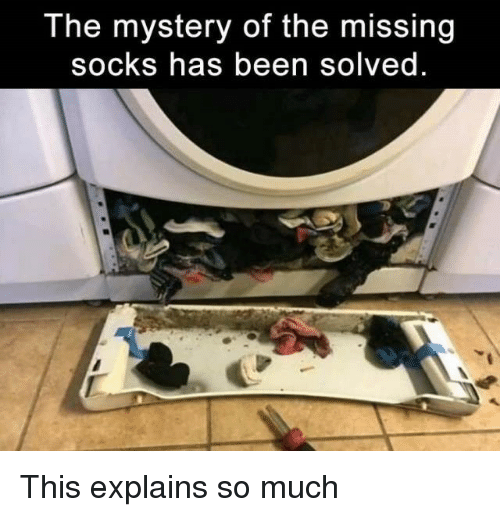 Missing Socks: The mystery of the missing  socks has been solved <p>This explains so much</p>