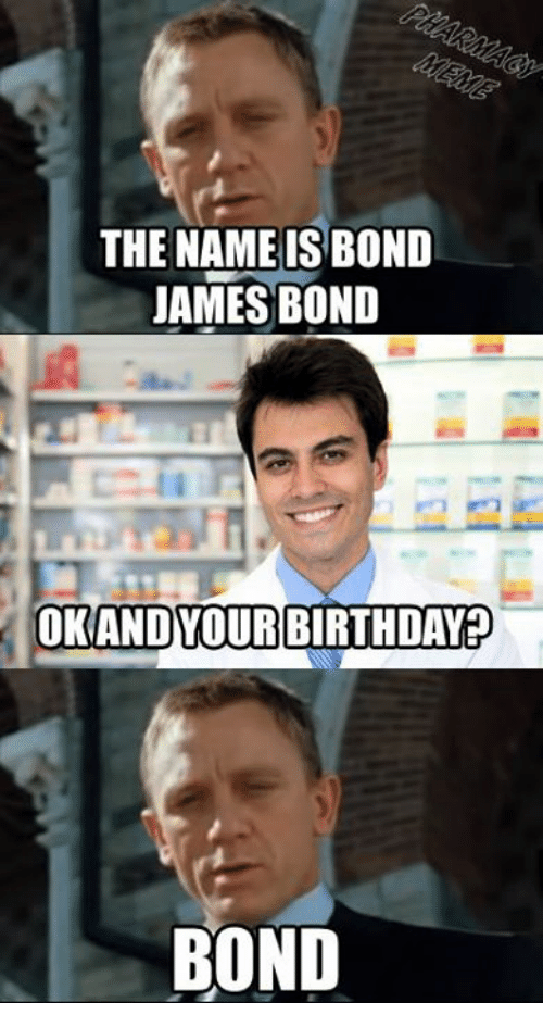the name is bond james bond and your birthday bond 286850 the name is bond james bond and your birthday bond birthday meme,The Names Bond Meme