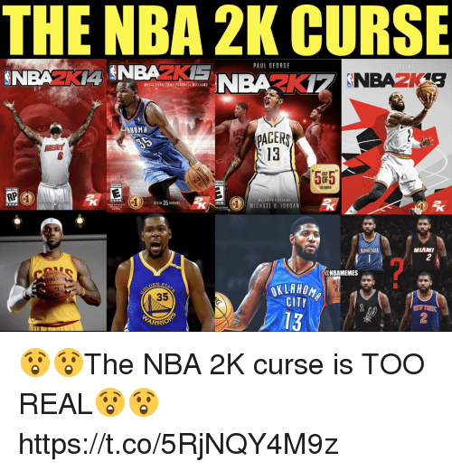 pharrell: THE NBA 2K CURSE  PAUL GEORG  MESIC CORATEDAY PHARRELL ILLIAMS  HOMA  PAGER  13  EAT  5F5  ONE  US GAMER  VICLEFER FEATURING  MICHAEL B. JORDAN  MINNESOTA  MIAMI  2  ALD  @NBAMEMES  35  CITY  13  ARRIO  2 😲😲The NBA 2K curse is TOO REAL😲😲 https://t.co/5RjNQY4M9z