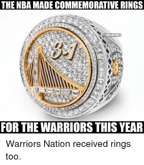 Warriors Year By Year: The NBA MADECOMMEMORATIVE RINGS FOR THE WARRIORS THIS YEAR