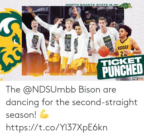 bison: The @NDSUmbb Bison are dancing for the second-straight season! 💪 https://t.co/Yl37XpE6kn