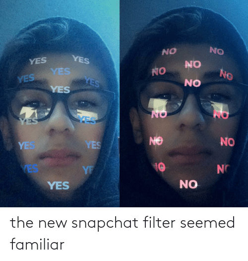 Snapchat Filter: the new snapchat filter seemed familiar