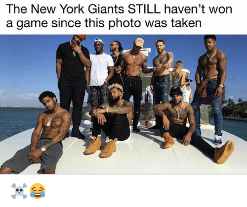 Basketball, Be Like, and New York: The New York Giants STILL haven't won  a game since this photo was taken ☠️😂