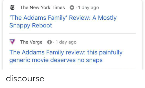 the addams family: The New York Times 1 day ago  The Addams Family' Review: A Mostly  Snappy Reboot  The Verge  1 day ago  The Addams Family review: this painfully  generic movie deserves no snaps discourse
