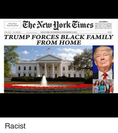The New York Times Trump Forces Black Family From Home