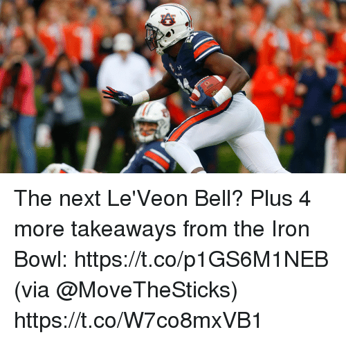 Memes, Bowl, and 🤖: The next Le'Veon Bell?  Plus 4 more takeaways from the Iron Bowl: https://t.co/p1GS6M1NEB (via @MoveTheSticks) https://t.co/W7co8mxVB1