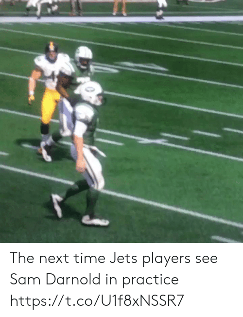 Jets: The next time Jets players see Sam Darnold in practice https://t.co/U1f8xNSSR7