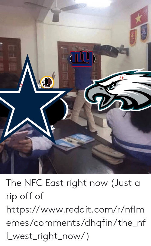 Nflmemes: The NFC East right now (Just a rip off of https://www.reddit.com/r/nflmemes/comments/dhqfin/the_nfl_west_right_now/ )