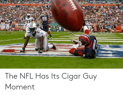 cigar guy: The NFL Has Its Cigar Guy Moment
