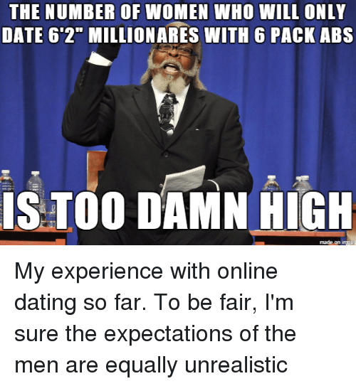 Online dating unrealistic expectations