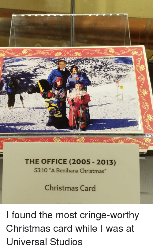 the office 2005 2013 s310 a benihana christmas christmas card i found the most cringe worthy. Black Bedroom Furniture Sets. Home Design Ideas