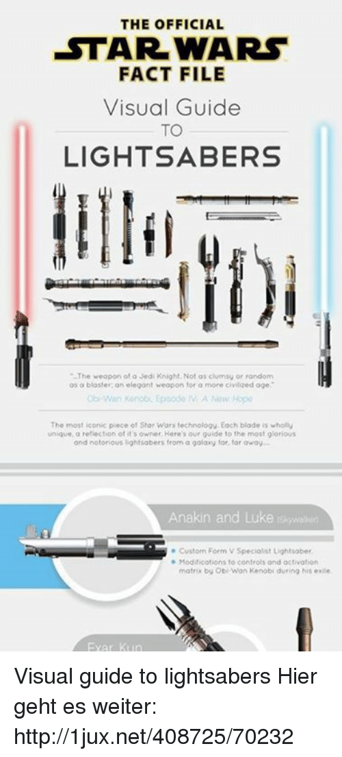 the official star wars fact file visual guide to lightsabers the