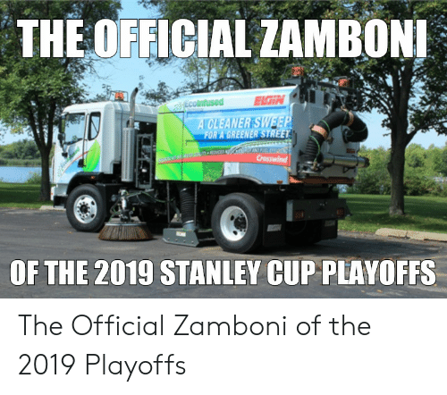 stanley cup playoffs: THE OFFICIAL ZAMBON  EIGIN  OF THE 2019 STANLEY CUP PLAYOFFS The Official Zamboni of the 2019 Playoffs