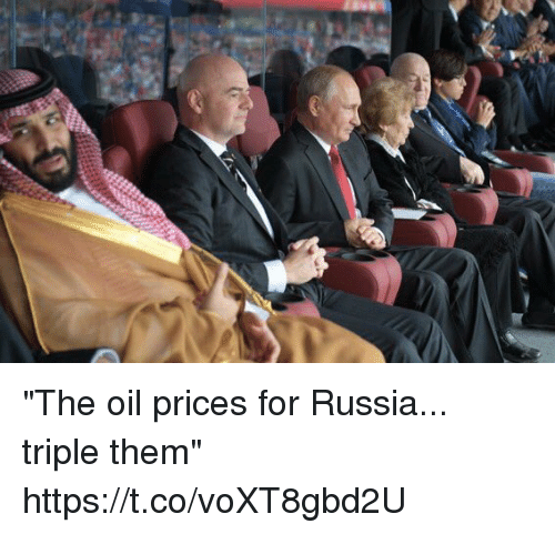 "Soccer, Russia, and Them: ""The oil prices for Russia... triple them"" https://t.co/voXT8gbd2U"