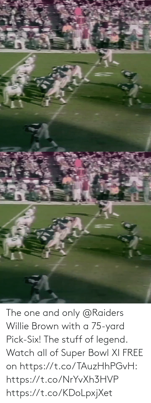 Super Bowl: The one and only @Raiders Willie Brown with a 75-yard Pick-Six!  The stuff of legend.  Watch all of Super Bowl XI FREE on https://t.co/TAuzHhPGvH: https://t.co/NrYvXh3HVP https://t.co/KDoLpxjXet