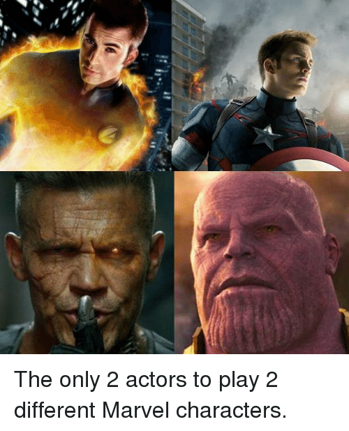marvel characters: The only 2 actors to play 2 different Marvel characters.