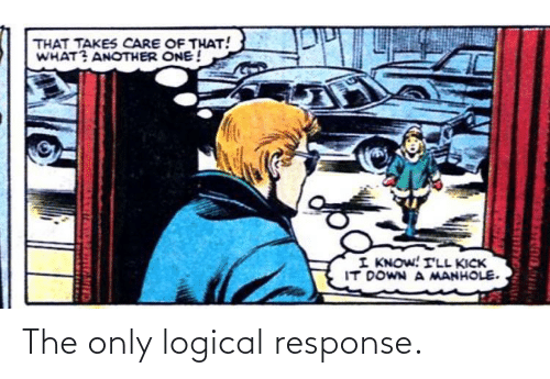 logical: The only logical response.