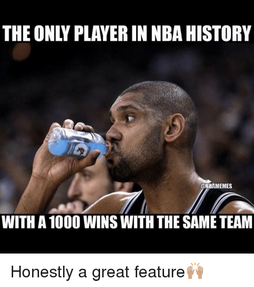 Basketball, Sports, and Player: THE ONLY PLAYER IN NBA HISTORY  @NBAMEMES  WITH A 1000 WINS WITH THE SAME TEAM Honestly a great feature🙌🏽