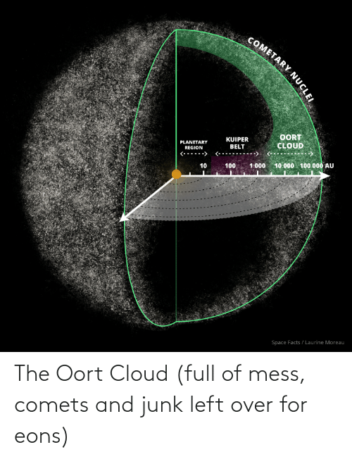 junk: The Oort Cloud (full of mess, comets and junk left over for eons)