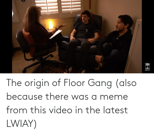 The Origin Of: The origin of Floor Gang (also because there was a meme from this video in the latest LWIAY)