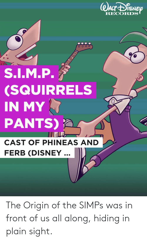 The Origin Of: The Origin of the SIMPs was in front of us all along, hiding in plain sight.