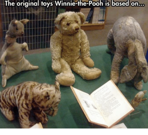Memes, Winnie the Pooh, and Toys: The original toys Winnie-the-Pooh is based on...