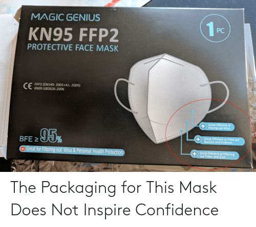 inspire: The Packaging for This Mask Does Not Inspire Confidence