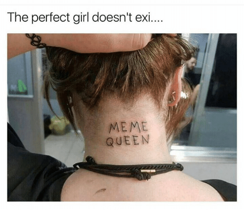 Memes, Perfect Girl, and 🤖: The perfect girl doesn't exi....  MEME  QUEEN