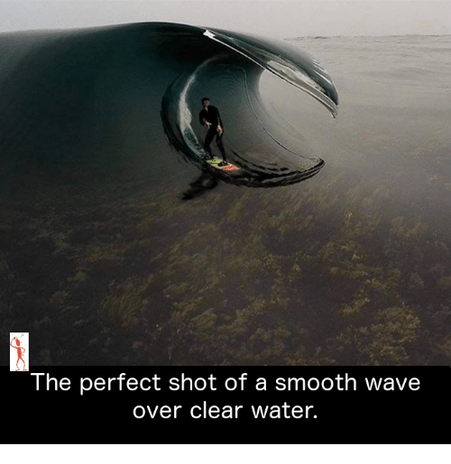 clear water: The perfect shot of a Smooth Wave  over clear water.