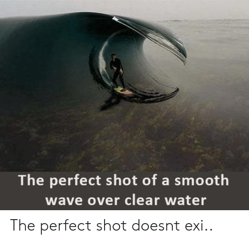 clear water: The perfect shot of a smooth  wave over clear water The perfect shot doesnt exi..