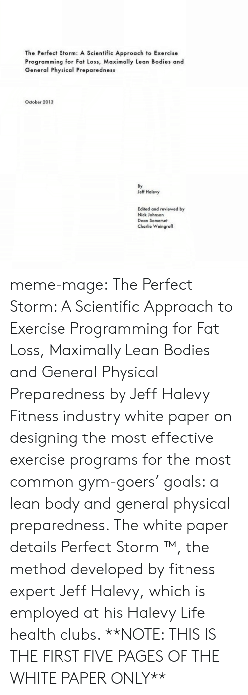 The perfect storm essay