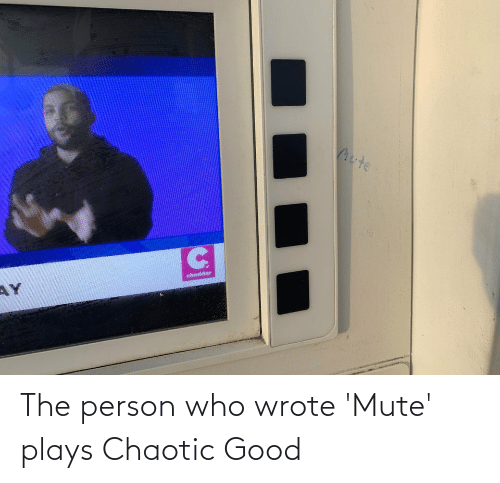 Chaotic Good: The person who wrote 'Mute' plays Chaotic Good