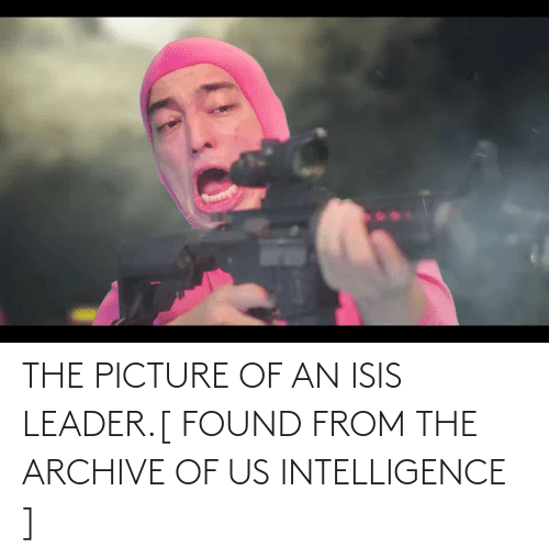 ISIS: THE PICTURE OF AN ISIS LEADER.[ FOUND FROM THE ARCHIVE OF US INTELLIGENCE ]