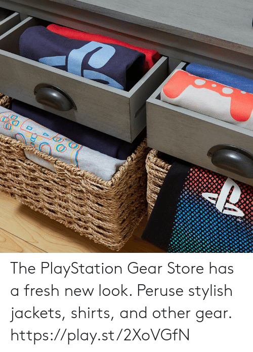 Stylish: The PlayStation Gear Store has a fresh new look. Peruse stylish jackets, shirts, and other gear. https://play.st/2XoVGfN