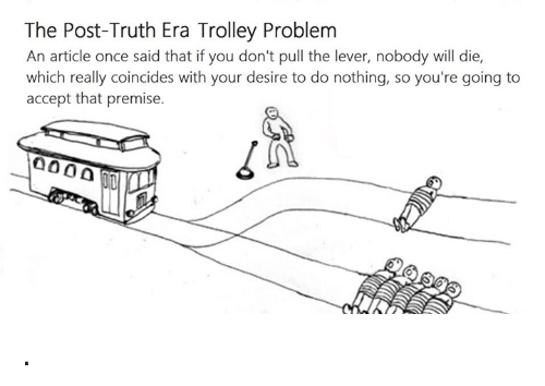 The Post Truth Era Trolley Problem An Article Once Said That If You
