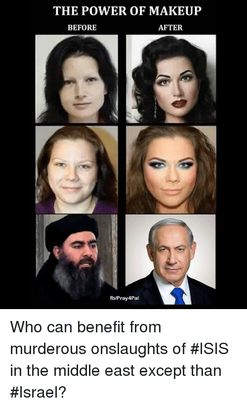 Funny Middle Eastern Meme : The power of makeup after before fbpray pal who can