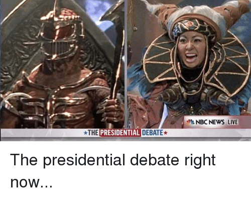 debate: THE  PRESIDENTIAL DEBATE* The presidential debate right now...