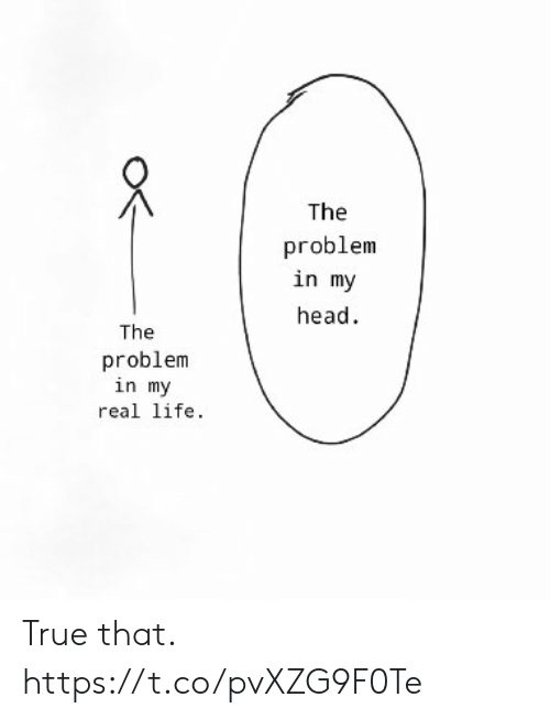 True That: The  problem  in my  head  The  problem  in my  real life. True that. https://t.co/pvXZG9F0Te