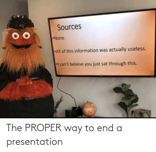 presentation: The PROPER way to end a presentation